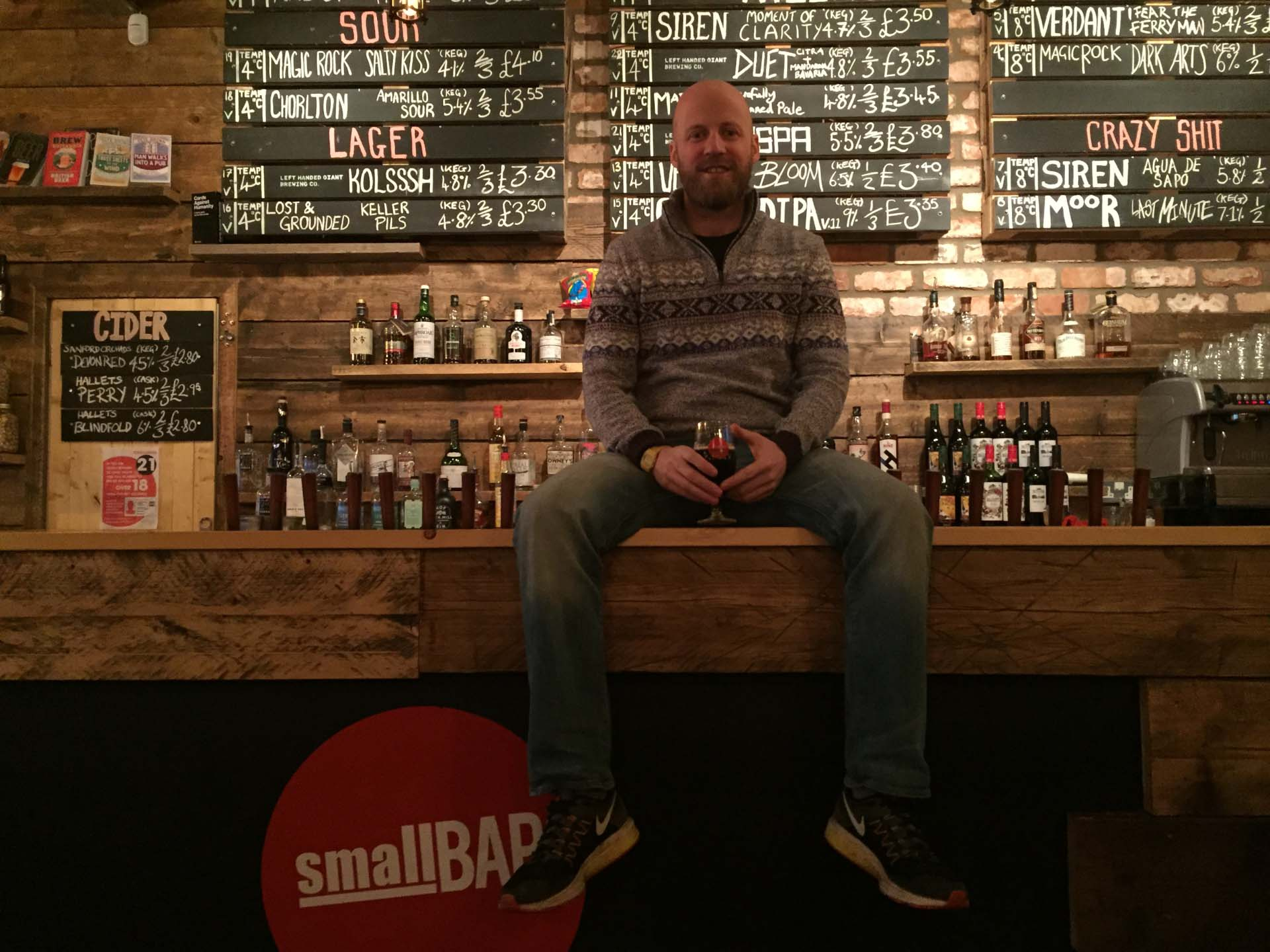 Bruce Gray of Small Bar and Left Handed Giant Brewing Co.