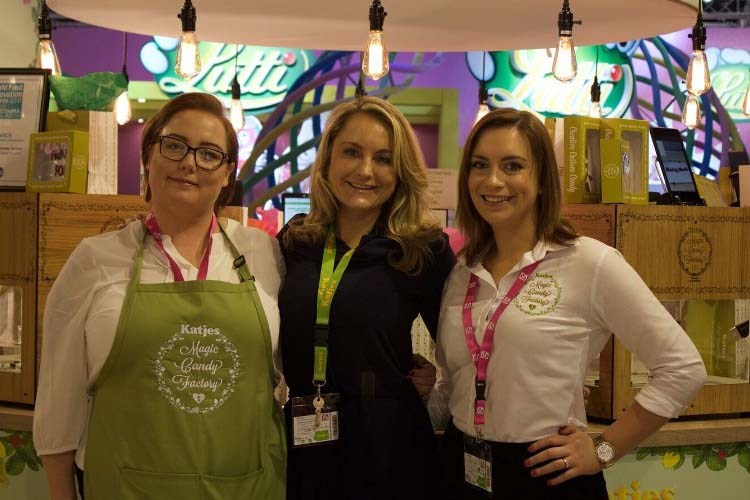 Melissa Snover with staff at a recent trade show