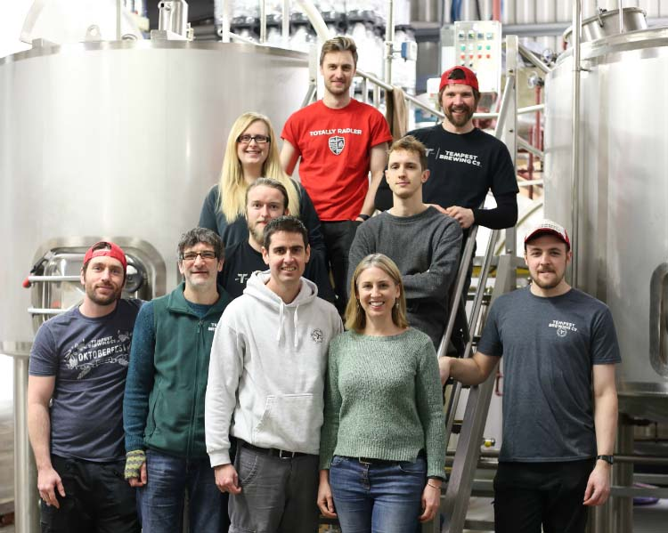 The Tempest Brewing team