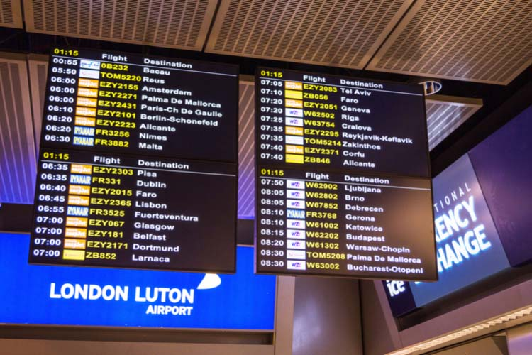 London Luton Airport passenger numbers grow